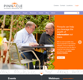 Pinnacle Actuarial Resources, Website Redesign