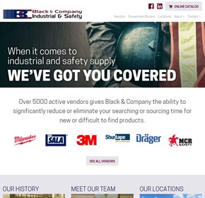 Black & Company, Website CMS