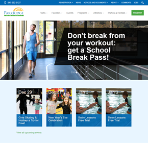Park Ridge Park District, Website CMS, Intranet, Publishing, and Events