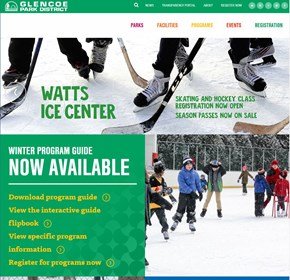Glencoe Park District, Advanced, Integrated Website CMS, Intranet, Calendar/Events, and more